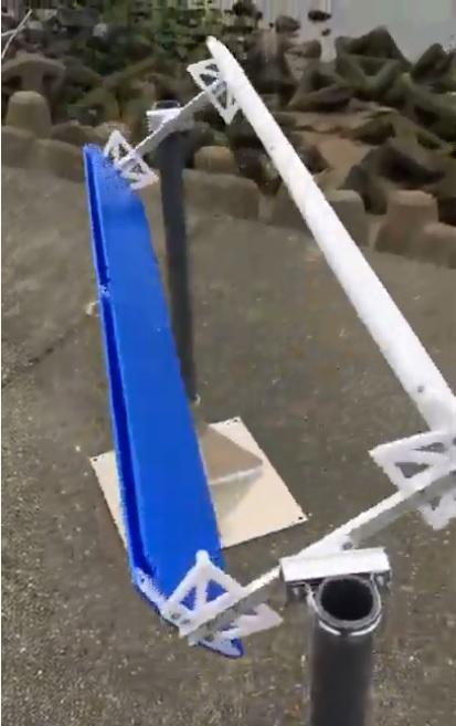 水平横軸風車の画像